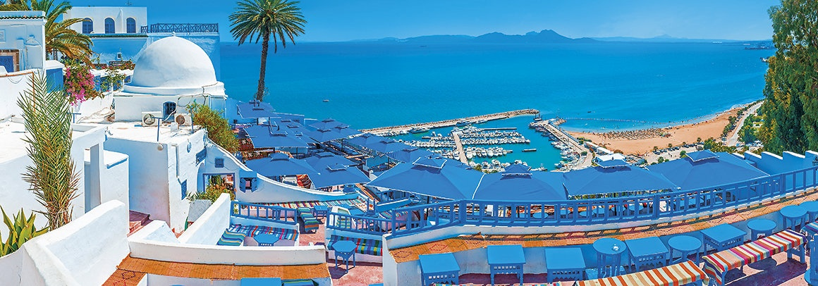 Mapa Tuniska Pevniny Ck Blue Style